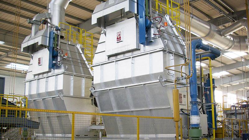 horno para fabricar alambrón de aluminio