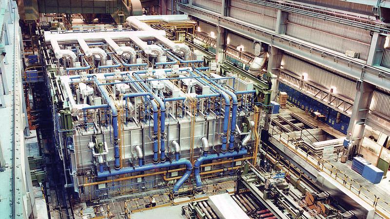 planta para bobinas de aluminio