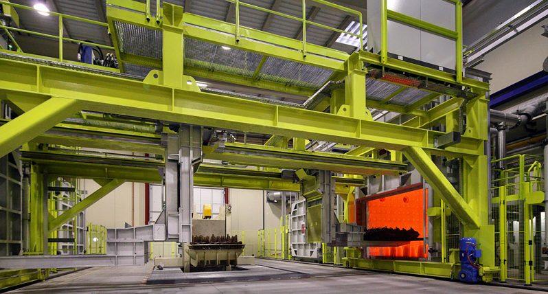 Máquinas de carga hierro y acero