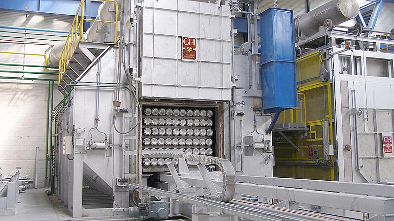 Instalación tochos aluminio