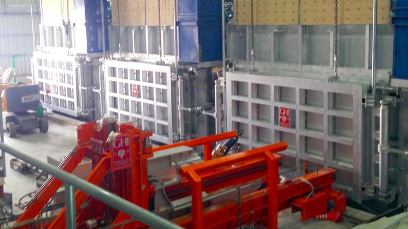 Novedosa instalación para el precalentamiento de placas de aluminio en la empresa argentina Aluar