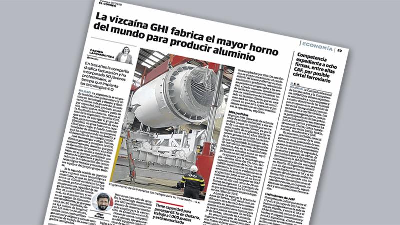 GHI Smart Furnaces, en el diario El Correo