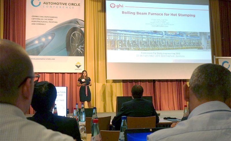 """GHI Smart Furnaces presentó una ponencia sobre el horno de vigas rodantes para estampación en caliente en la Conferencia """"Forming in Car Body Engineering"""" en Alemania."""