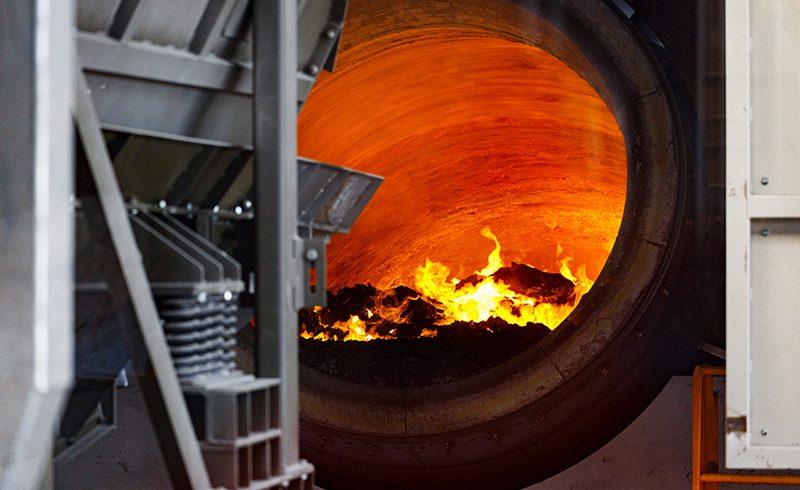 GHI suministra el horno fusor rotativo para reciclado de aluminio más grande del mundo