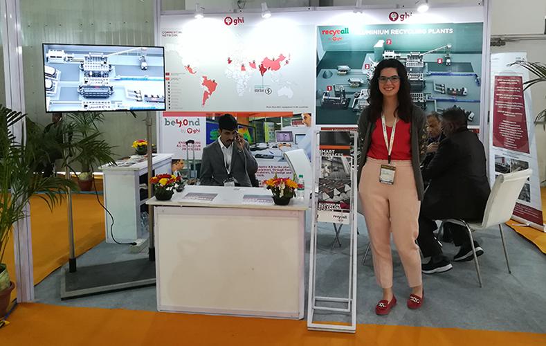 GHI, presente como exhibidor en la feria Alucast, celebrada en Nueva Delhi, India.