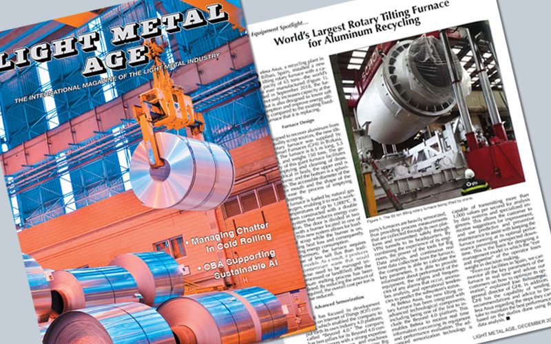 """Light Metal Age"" echoes the world's largest rotary tilting furnace, manufactured by GHI"