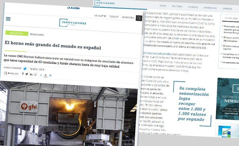 GHI Smart Furnaces, en las páginas digitales y de papel del periódico La Razón