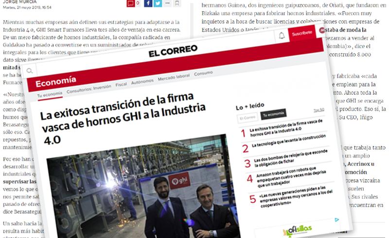 Entrevista en El Correo Digital a la dirección de GHI Smart Furnaces