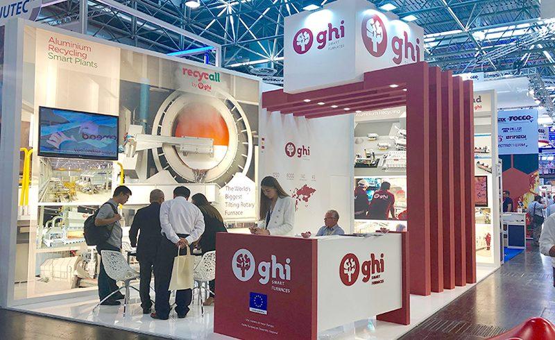 Intensa actividad en el stand de GHI Smart Furnaces durante la FeriaThermprocess (GIFA) de Dusseldorf