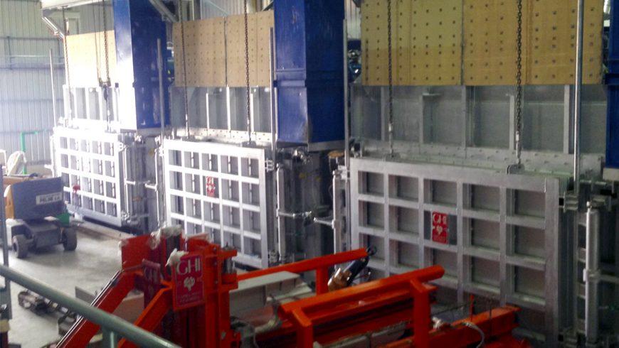 Plant for preheating aluminium slabs in Aluar, Argentina