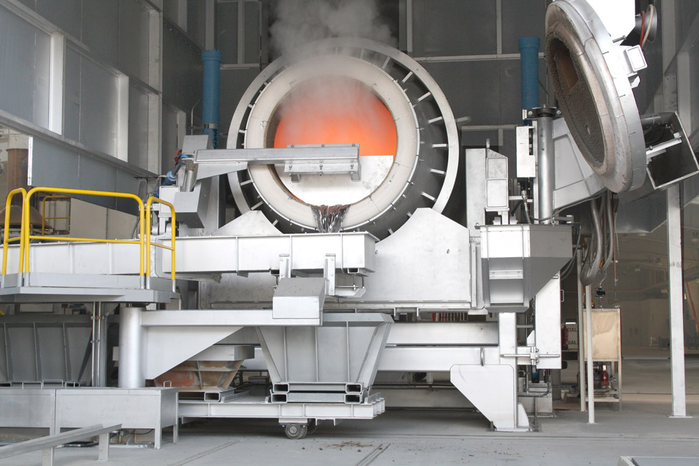 30 t tilting rotary furnace for Amissa
