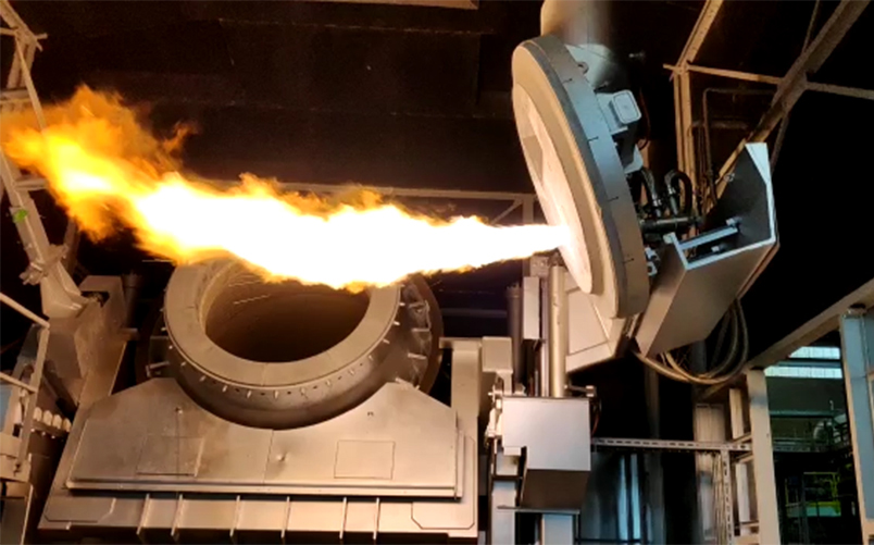 GHI Smart Furnaces starts up a new Rotary Tilting Furnace for aluminium recycling