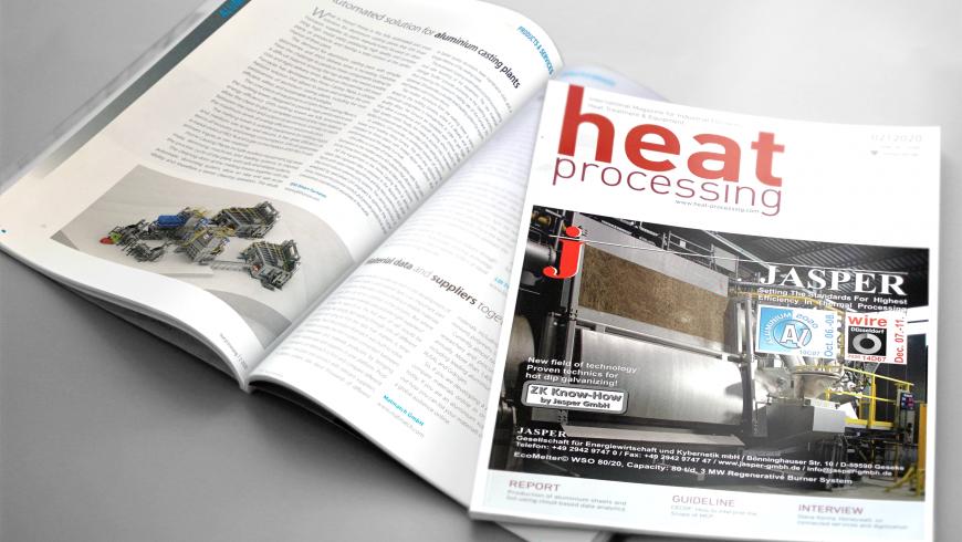 Aluminium-Schmelzanlagen PRIME von GHI SMART FURNACES in der Zeitschrift Heat Processing