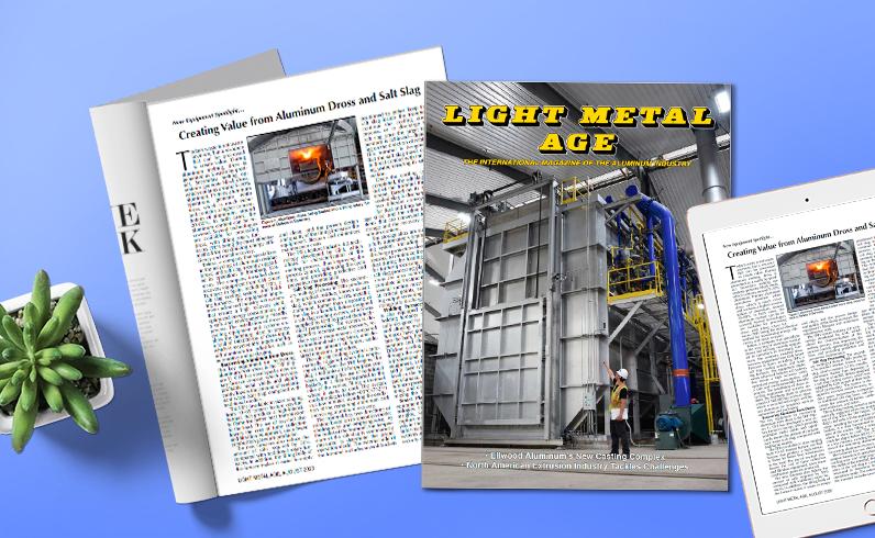 Aluminium-Recyclinganlagen von GHI SMART FURNACES in der Zeitschrift Light Metal Age